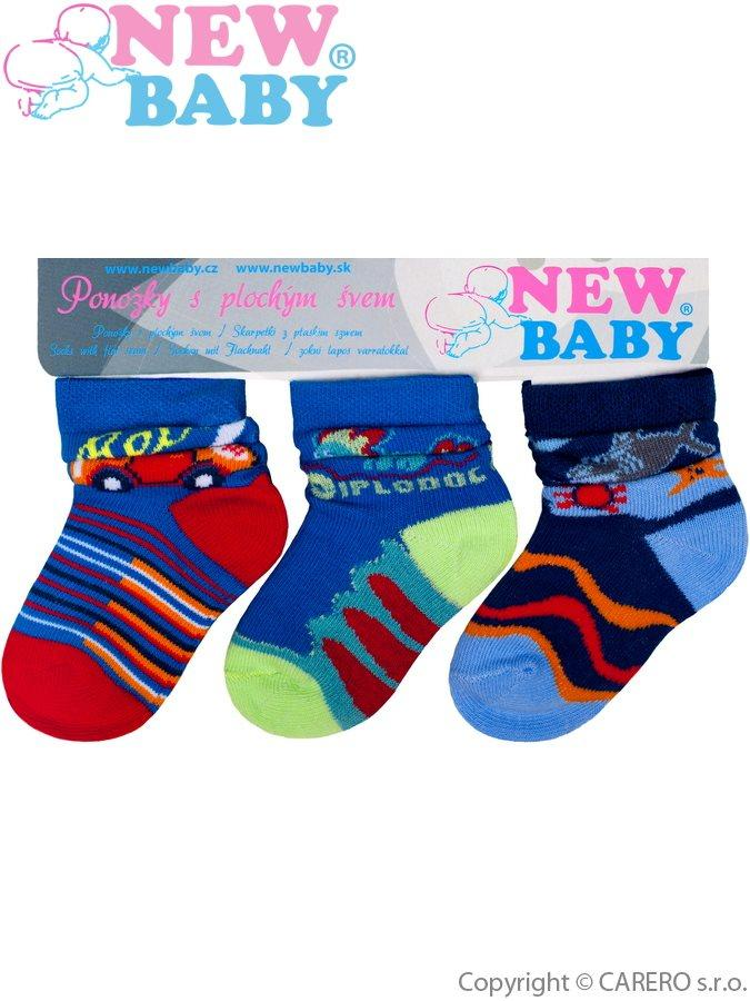 Kojenecké bavlněné ponožky New Baby barevné - 3ks Dle obrázku 62 (3-6m) e26e90d281