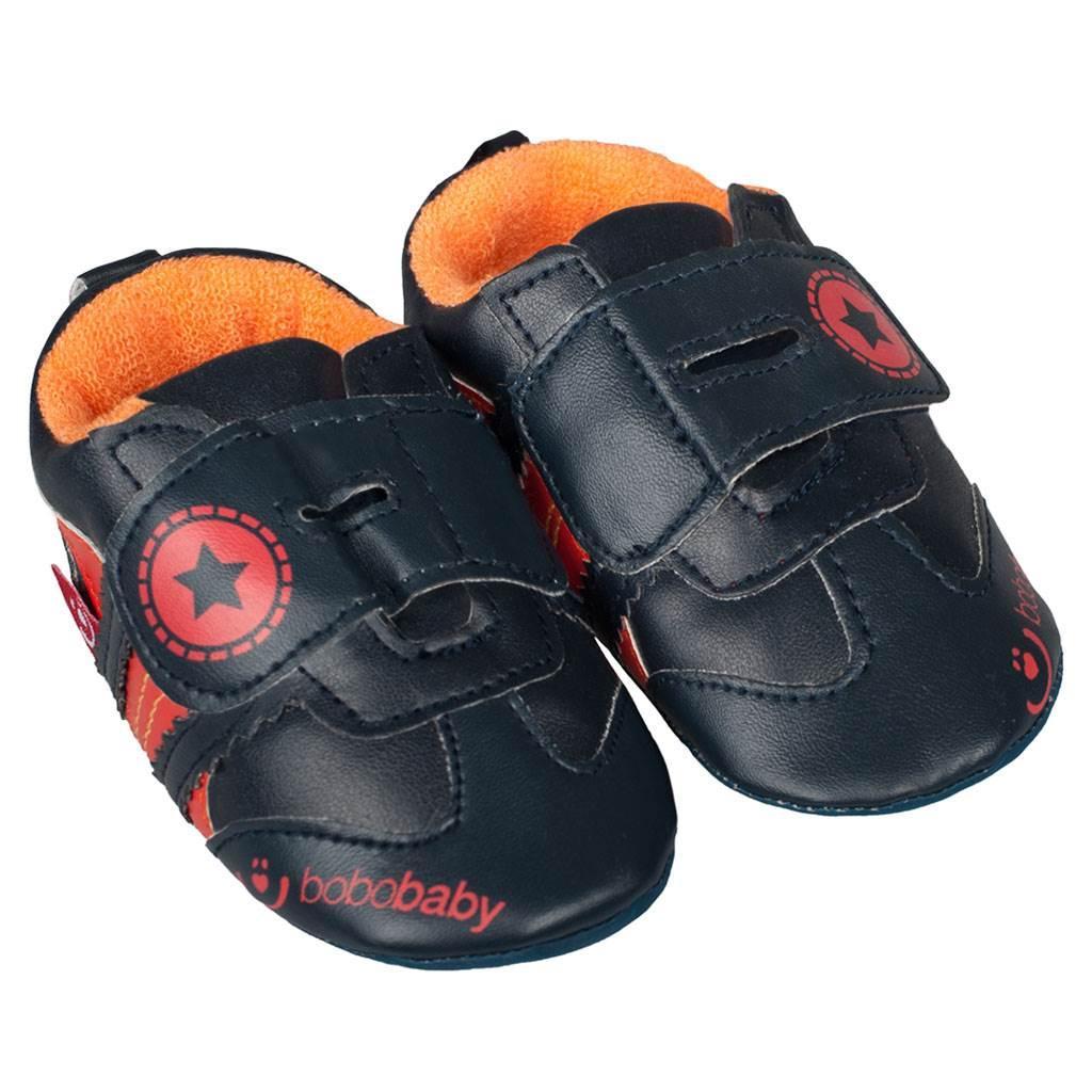 Dětské capáčky Bobo Baby 6-12m černo oranžové Černá 80 (9-12m) 0f8346a4a4