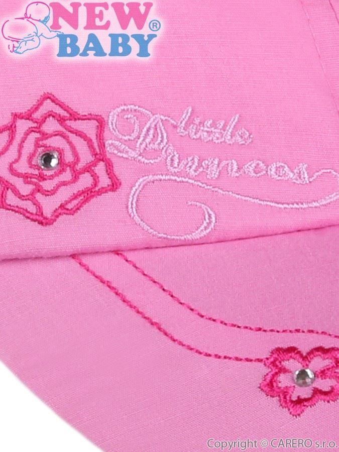 Letní dětská kšiltovka New Baby Little Princess tmavě růžová Růžová 86  (12-18 m) a6a1813a19