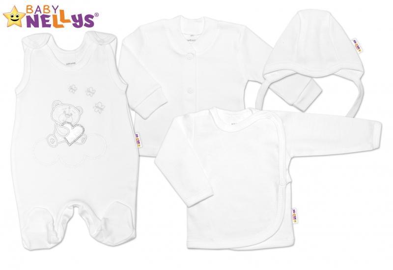 2f476994127 4-dílná kojenecká sada s výšivkou Medvídek srdíčko