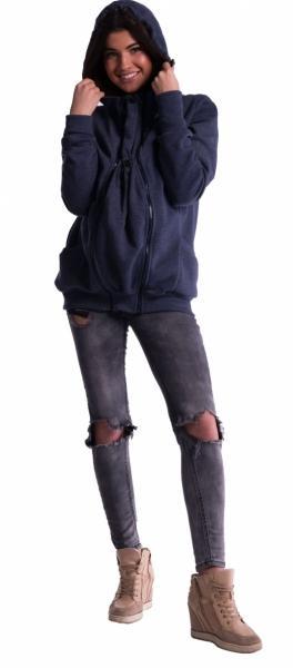 0417eecd56f Těhotenská a nosící mikina - granát jeans