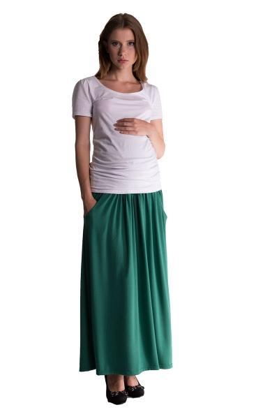 a075b6deede Maxi dlouhá sukně MAXINA - zelená