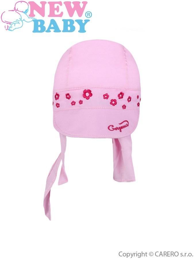 Letní dětská čepička-šátek New Baby Gorgeous světle růžová Světle růžová 86  (12-18 m) c32d74fa8b