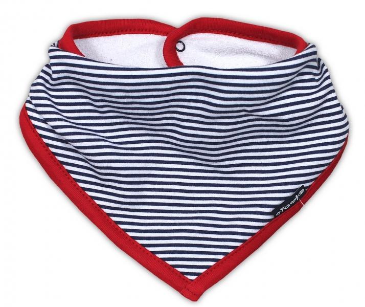 Dětský šátek na krk NICOL PIRÁTI - modrý proužek bc93129040