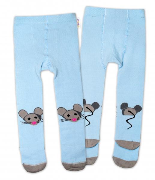 Bavlněné punčocháče - Myška modrá 1fd36bf50c