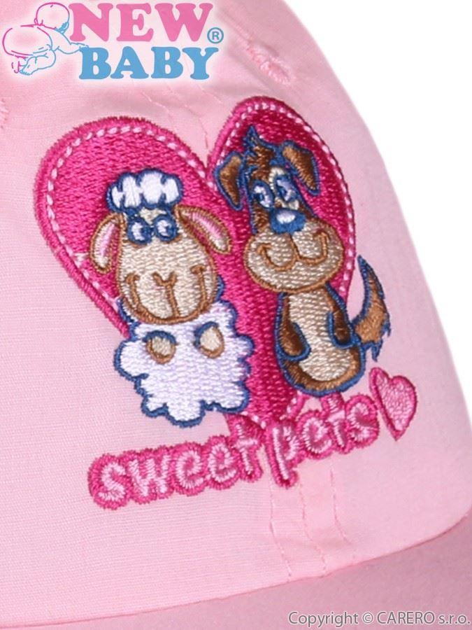 Letní dětská kšiltovka New Baby Sweet Pets světle růžová Růžová 86 (12-18m) a616aa1f15
