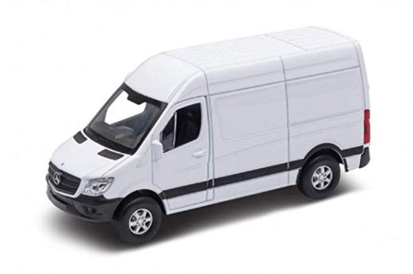 Welly Mercedes-Benz Sprinter Cargo box model 1:34 bílý