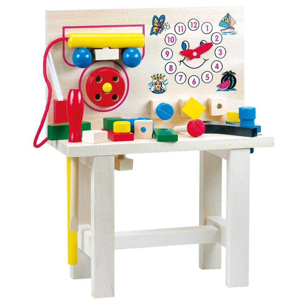 Bino Hračky pro kluky pracovní ponk s telefonem +