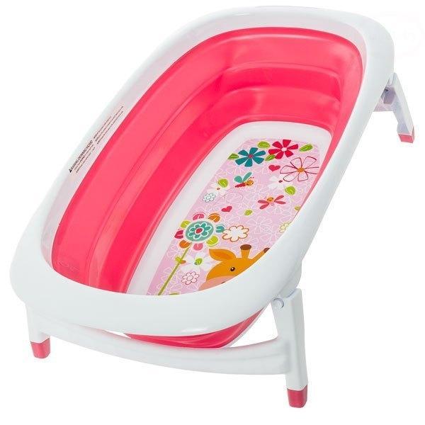 EURO BABY Polohovací cestovní dětská vanička NOVINKA - růžová